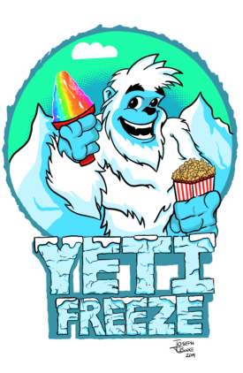 Yeti Freeze Snow Cone Business Design